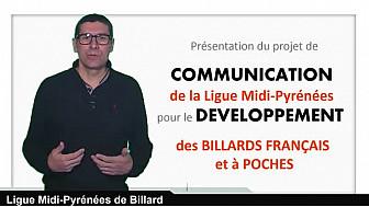 Projet de communication de la Ligue @Midi-Pyrénées de #Billard - @Toulouse @Tvlocale_fr