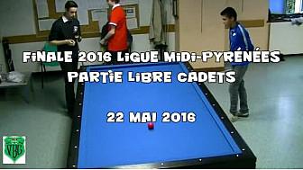 Finale 2016 de Ligue Midi Pyrénées de Billard Français partie Libre Cadets (moins de 17 ans)