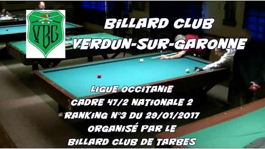 #Billard Français Cadre 47/2 N2 Pierre Caubet et Franck Bessagnet @Tarbes club @Verdun-sur-Garonne