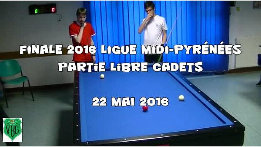 Match de qualification finale 2016 Ligue Midi Pyrénées de Billard Français partie Libre Cadets (moins de 17 ans)